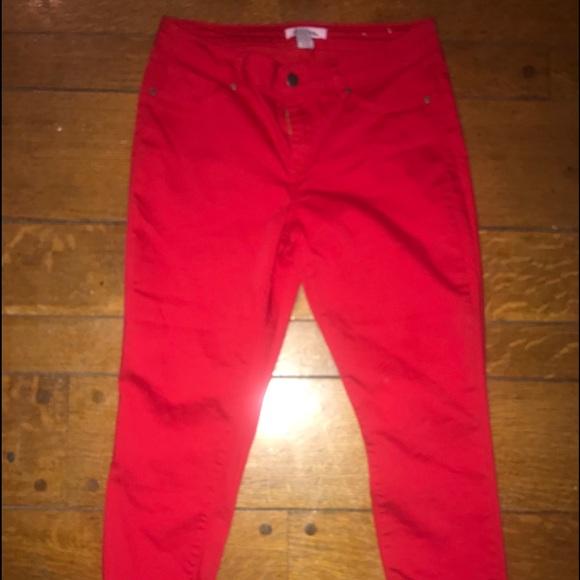 d. jeans Denim - Red crop jeans